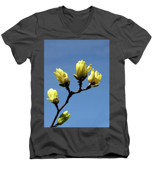 Yellow Magnolia Men's V-Neck T-Shirt