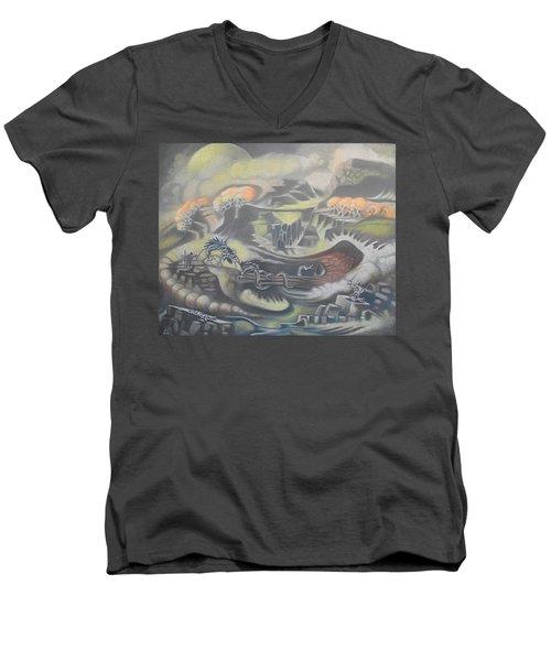 Yellow Moon Men's V-Neck T-Shirt