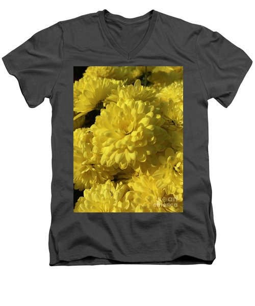 Yellow Mums Men's V-Neck T-Shirt
