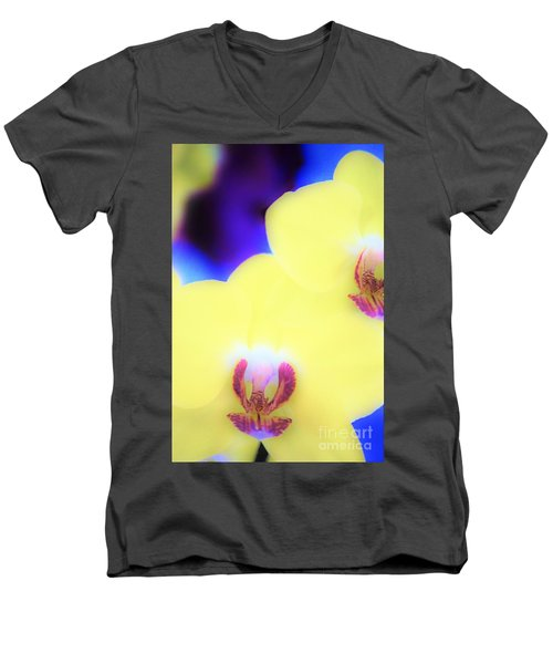 Yellow Orchid Men's V-Neck T-Shirt