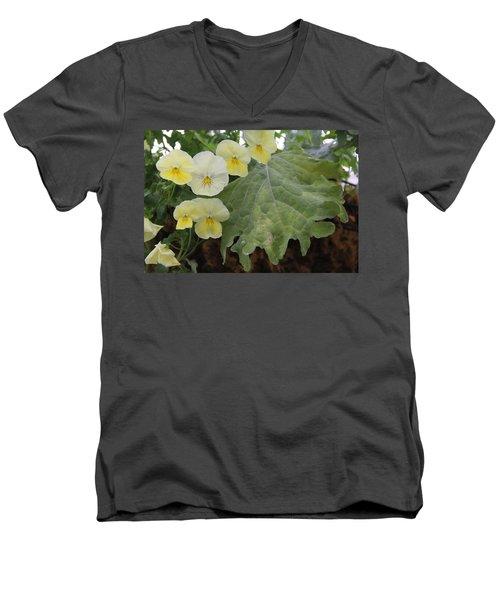 Yellow Pansies Men's V-Neck T-Shirt