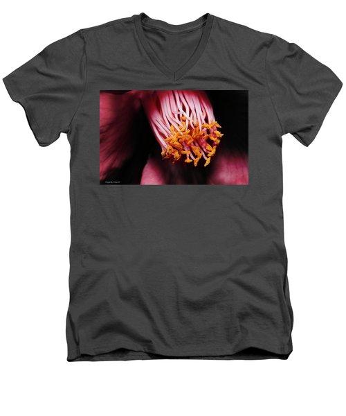 Yellow Pollen 01 Men's V-Neck T-Shirt