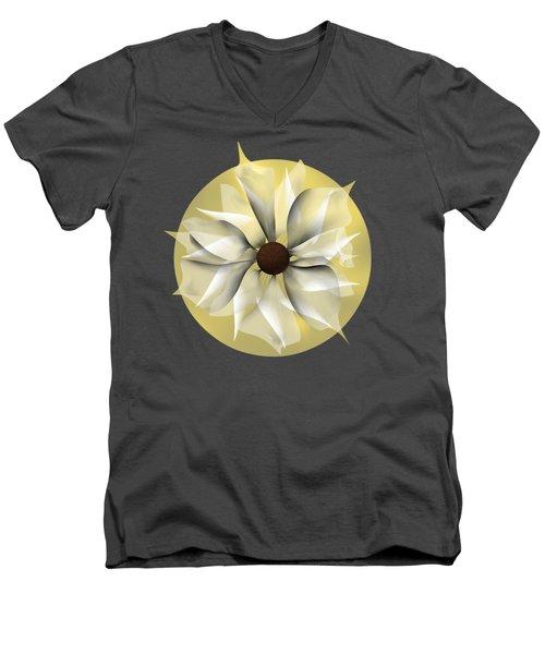 Yellow Soft Flower Men's V-Neck T-Shirt