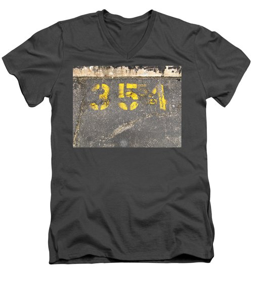 Yellow Three Five Five Four Men's V-Neck T-Shirt