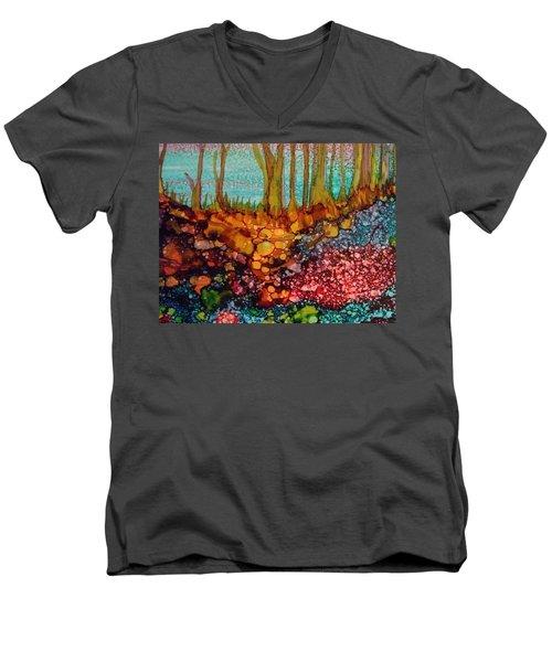 Yellow Trees Men's V-Neck T-Shirt