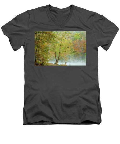 Yellow Trees Men's V-Neck T-Shirt by Iris Greenwell
