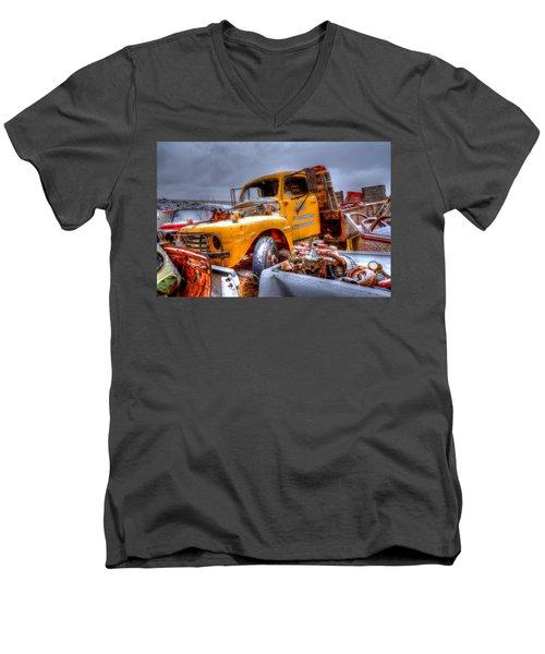 Yellow Truck Men's V-Neck T-Shirt