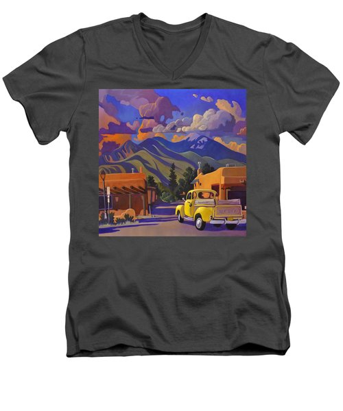Yellow Truck Square Men's V-Neck T-Shirt