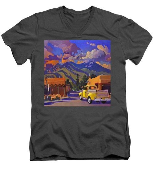 Yellow Truck Square Men's V-Neck T-Shirt