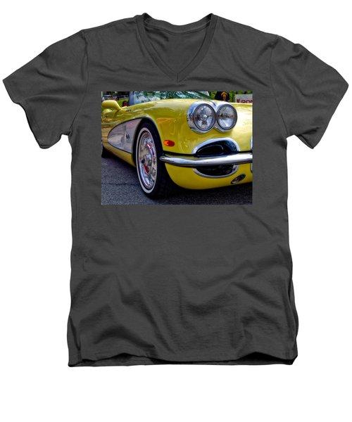 Yellow Vette Men's V-Neck T-Shirt