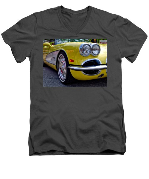 Yellow Vette Men's V-Neck T-Shirt