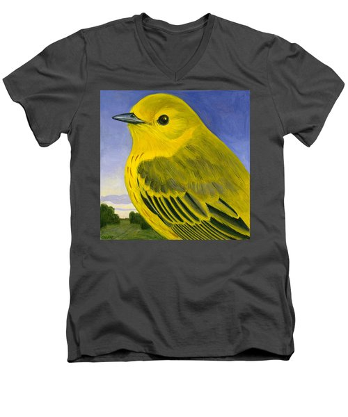 Yellow Warbler Men's V-Neck T-Shirt by Francois Girard