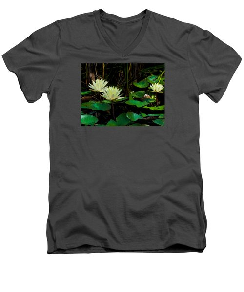 Yellow Water Lilies Men's V-Neck T-Shirt