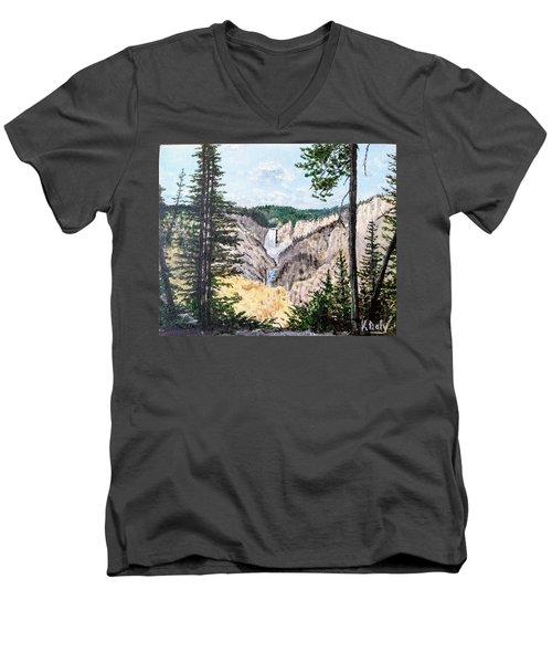 Yellowstone Falls Men's V-Neck T-Shirt