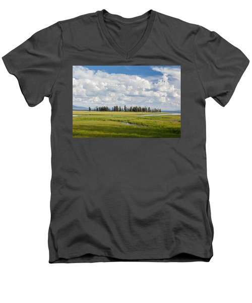 Yellowstone Meadow Men's V-Neck T-Shirt