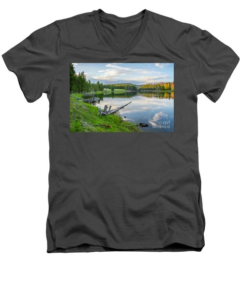 Yellowstone River Off Grand Loop Men's V-Neck T-Shirt