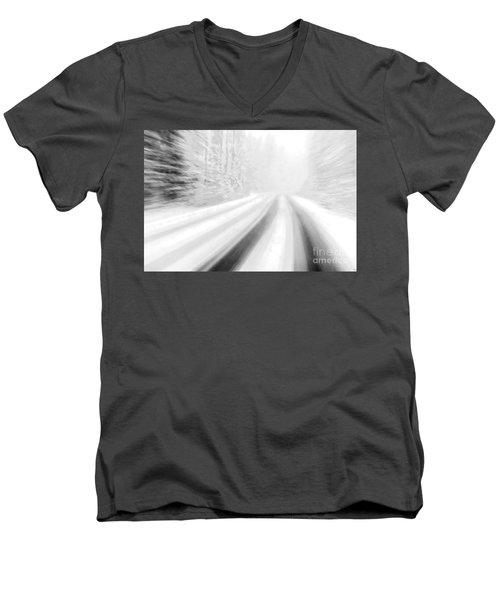 Yellowstone Summer Snow Men's V-Neck T-Shirt