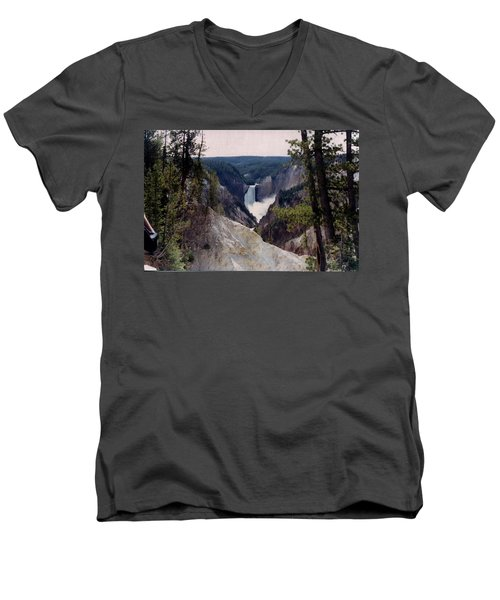 Yellowstone Water Fall Men's V-Neck T-Shirt