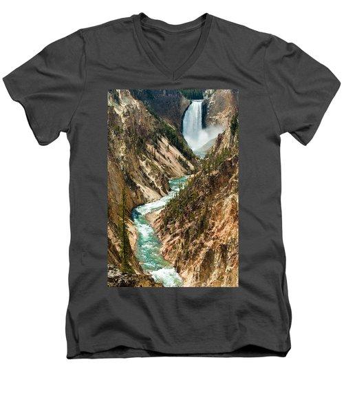 Yellowstone Waterfalls Men's V-Neck T-Shirt