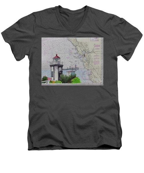 Yerba Buena Island Lighthouse Men's V-Neck T-Shirt