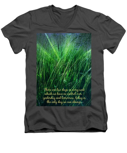Yesterday And Tomorrow Men's V-Neck T-Shirt