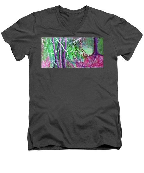 Yesterday's Dream Men's V-Neck T-Shirt by Susan DeLain