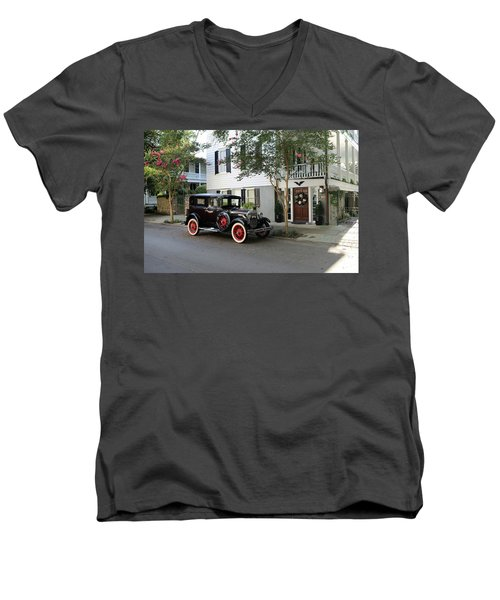 Yesteryear In Savanna Men's V-Neck T-Shirt by Lamarre Labadie