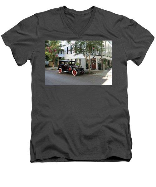 Yesteryear In Savanna Men's V-Neck T-Shirt