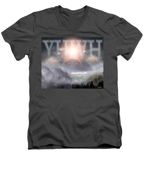 Yhwh Men's V-Neck T-Shirt by Bill Stephens