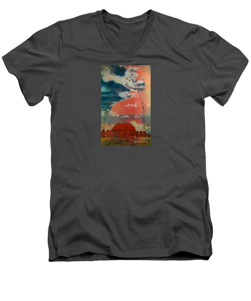 Men's V-Neck T-Shirt featuring the painting Yin And Yang by Elizabeth Carr