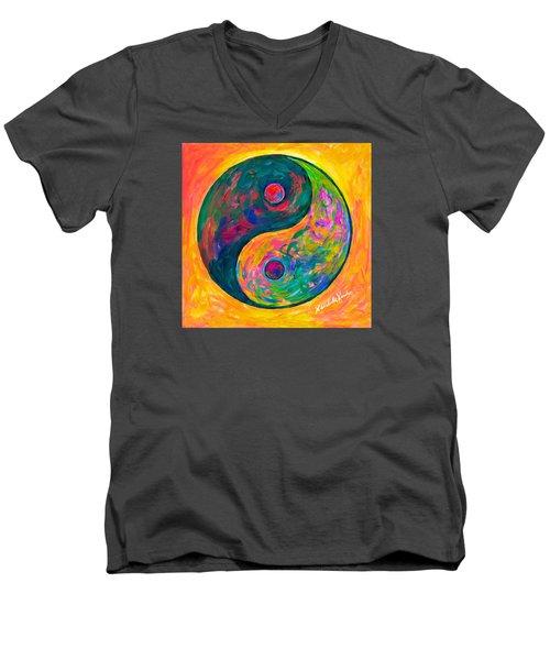 Yin Yang Flow Men's V-Neck T-Shirt