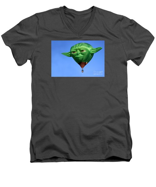 Yoda In The Sky Men's V-Neck T-Shirt
