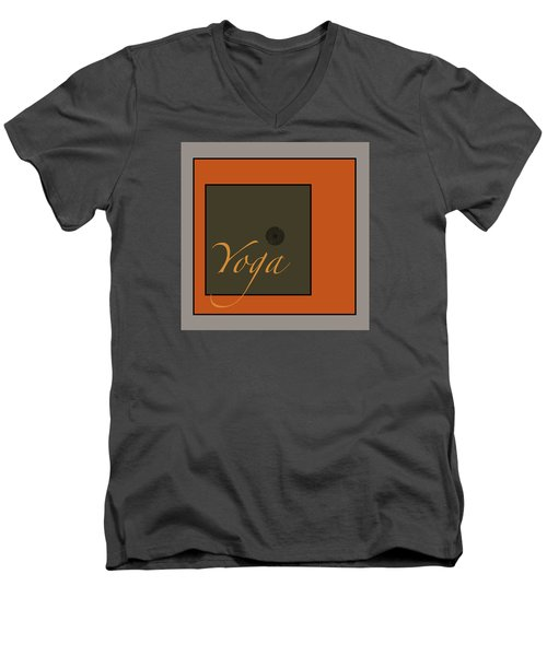Yoga Men's V-Neck T-Shirt by Kandy Hurley