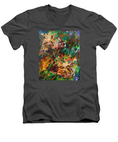 Yorkies Men's V-Neck T-Shirt