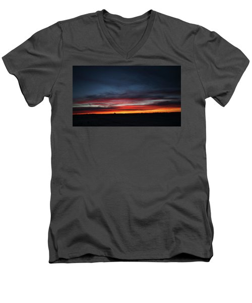 Men's V-Neck T-Shirt featuring the photograph Yorkton Sunrise by Ryan Crouse