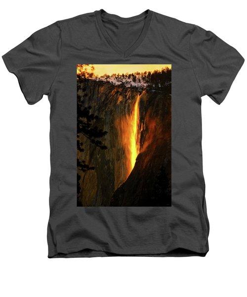Yosemite Firefall Men's V-Neck T-Shirt