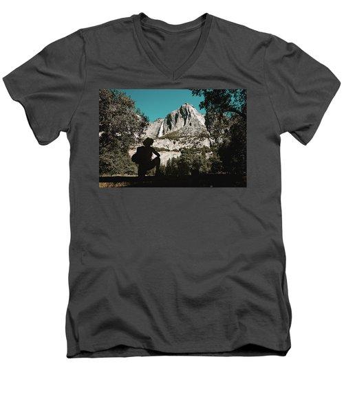 Yosemite Hiker Men's V-Neck T-Shirt