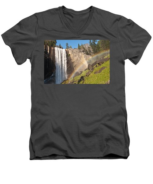 Yosemite Mist Trail Rainbow Men's V-Neck T-Shirt