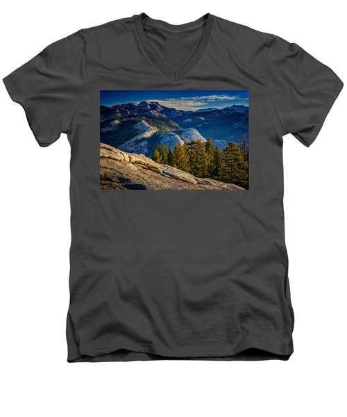 Yosemite Morning Men's V-Neck T-Shirt by Rick Berk