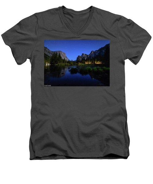 Yosemite Nights Men's V-Neck T-Shirt
