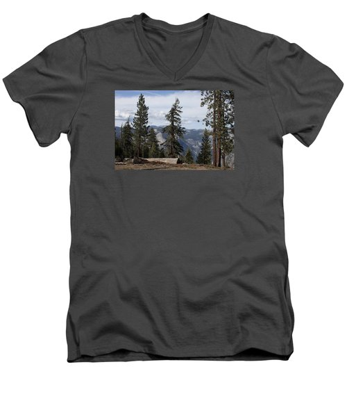 Men's V-Neck T-Shirt featuring the photograph Yosemite Park by Ivete Basso Photography