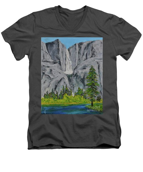 Yosemite Upper Falls Men's V-Neck T-Shirt