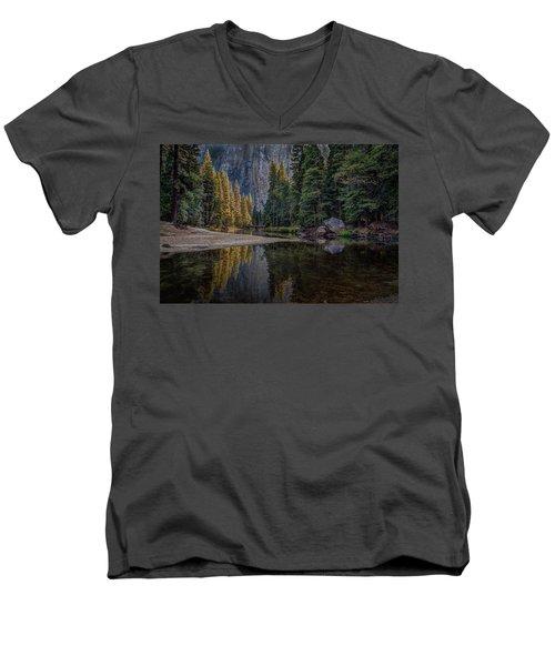 Yosemite Valley Reflections Men's V-Neck T-Shirt