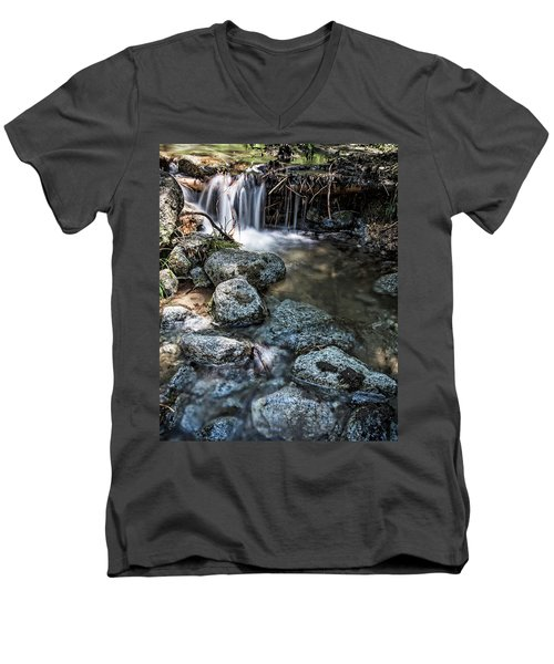 Yosemite View 17 Men's V-Neck T-Shirt by Ryan Weddle