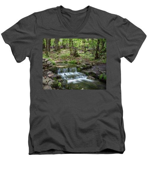 Yosemite View 23 Men's V-Neck T-Shirt by Ryan Weddle