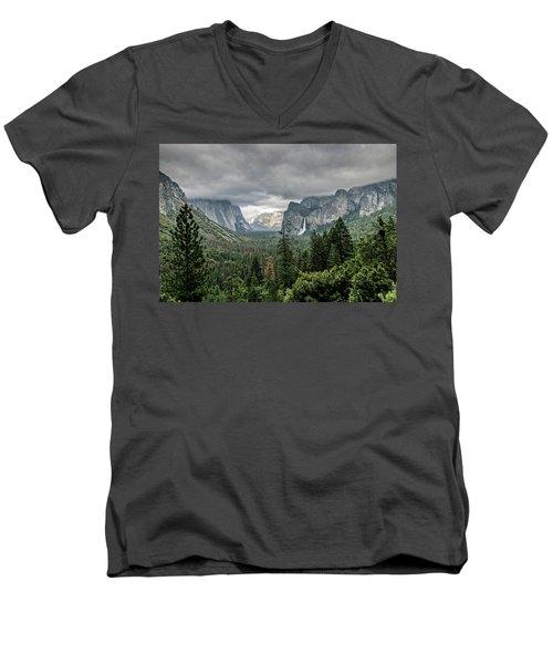 Yosemite View 36 Men's V-Neck T-Shirt by Ryan Weddle