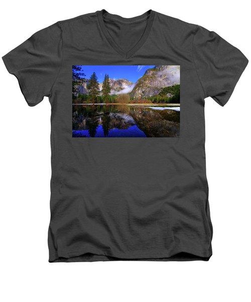 Yosemite Winter Reflections Men's V-Neck T-Shirt
