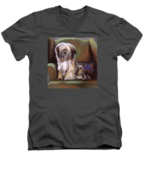 You Are In My Spot Again Men's V-Neck T-Shirt by Barbara Keith