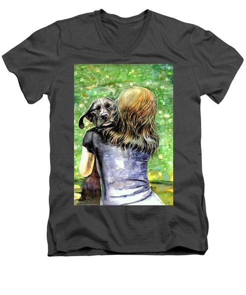 You Are Safe Men's V-Neck T-Shirt