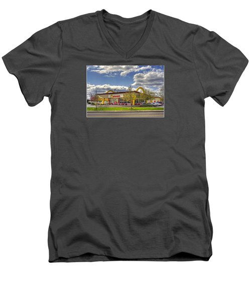Men's V-Neck T-Shirt featuring the photograph You Deserve A Break Today by Chris Anderson